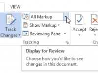 Recursos de revisão e macros no Word 2013