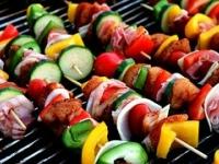 Saladas e churrascos