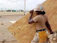 Construção de madeira pelo sistema plataforma