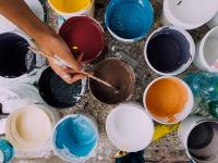 Pintura quadros e tecidos